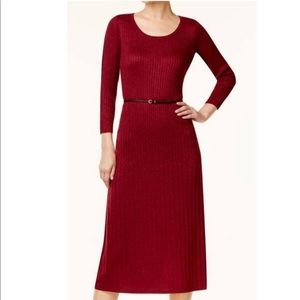 Calvin Klein Red Holiday Midi Dress